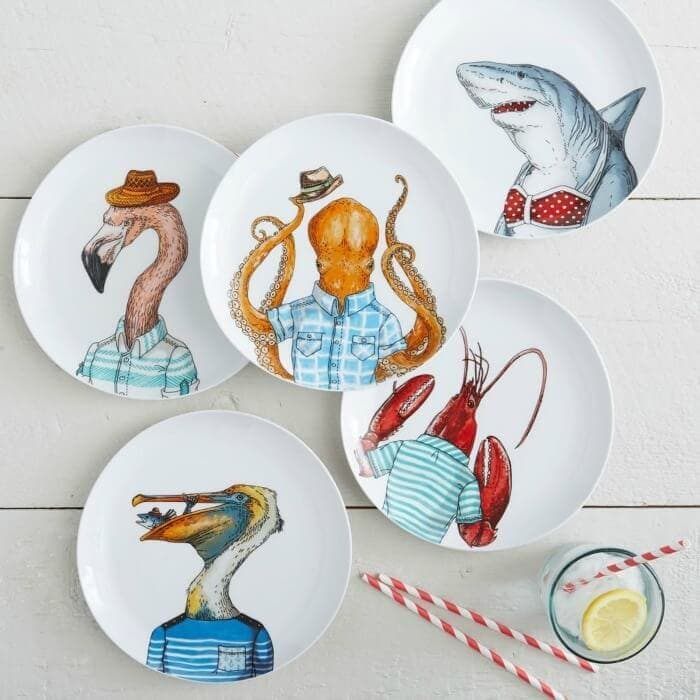 Dapper Animal Plates from West Elm Tableware on The Life Creative