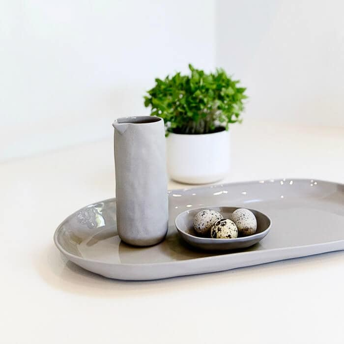 Flax Ceramic Dishes Tableware from White and Co on The Life Creative