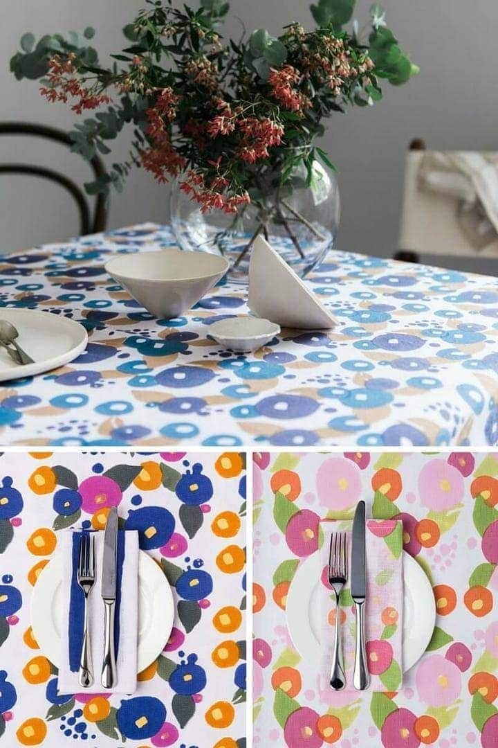 Floral tablecloth by Tipi Interiors Table Linens on TLC Interiors