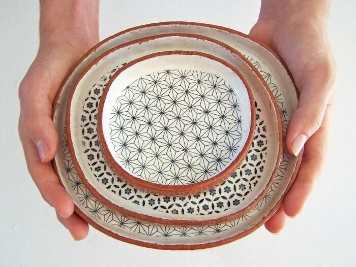 Handmade Tapas Plates from Etsy geometric tableware design The Life Creative