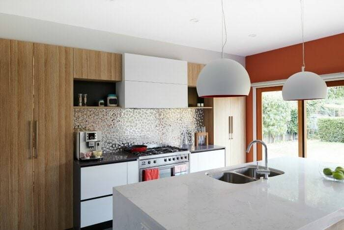 House Rules 2016 Brooke and Michelle Kitchen reflective splashback tiles The Life Creative