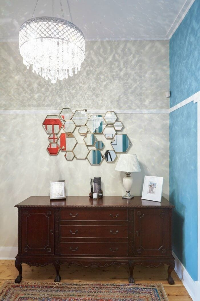 House Rules 2016 Brooke and Michelle's Entryway The Life Creative vintage sideboard
