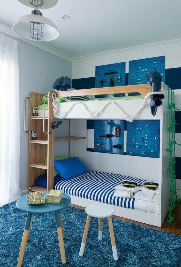 House Rules 2016 Rose and Rob Boys Room ideas bunk beds nautical theme