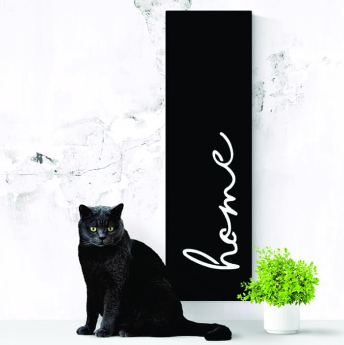 Lisa Sarah Steel Art in matte black home steel art The Life Creative