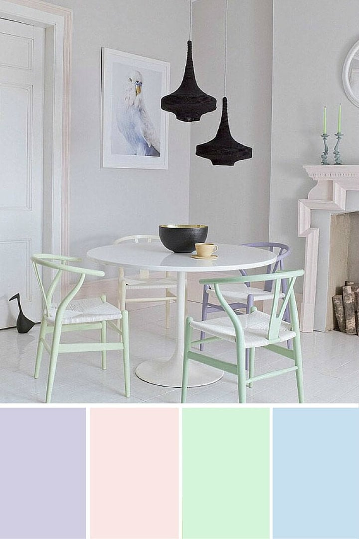 Pastel interior design ideas pastel dining room chairs