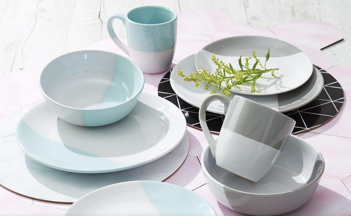 Sliced Dinner Setting from KMart - Pastel Tableware on The Life Creative