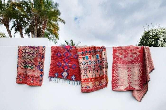 Tigmi Trading Moroccan Loom Towels in Red