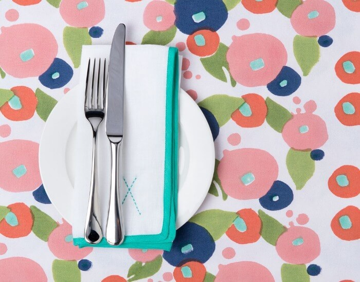 floral table linens from tipi interiors on The Life Creative