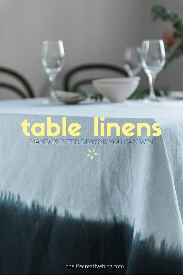 handmade table linens from tipi interiors ombre tablecloth