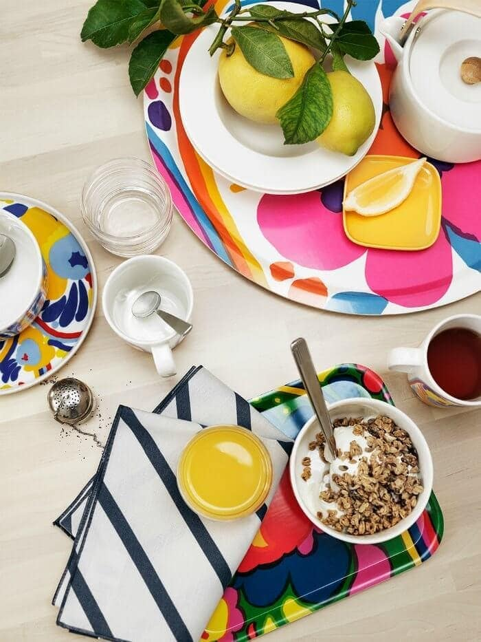 marimekko karuselli tray colourful tableware and trays on The Life Creative