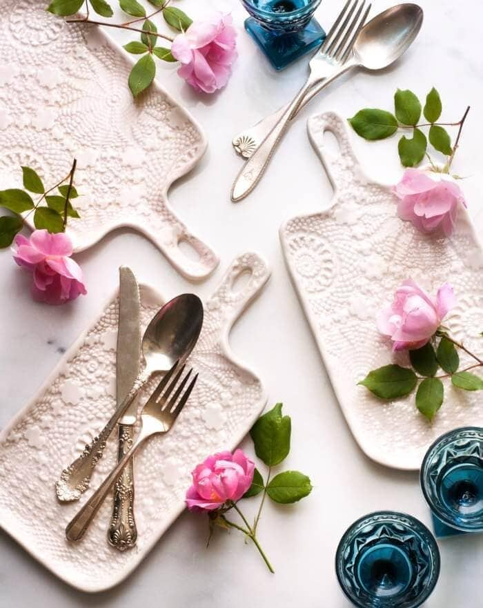 suite one studio lace cheeseboards tableware brands on The Life Creative