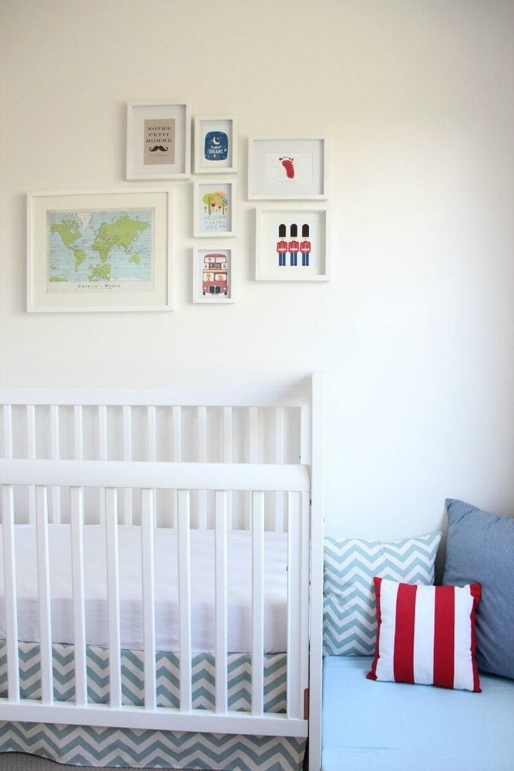 Art above baby cot nursery art ideas boys nursery