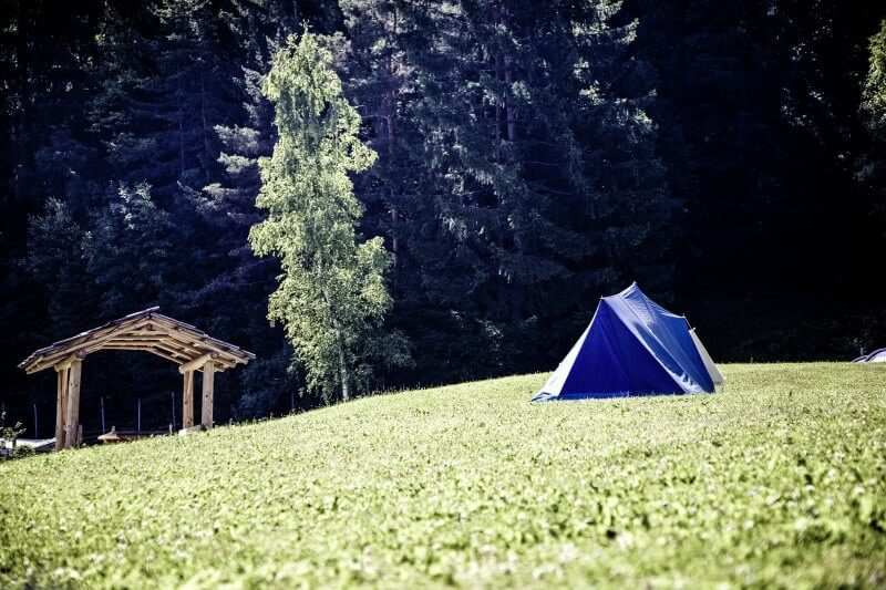 Blue tent camping the life creative