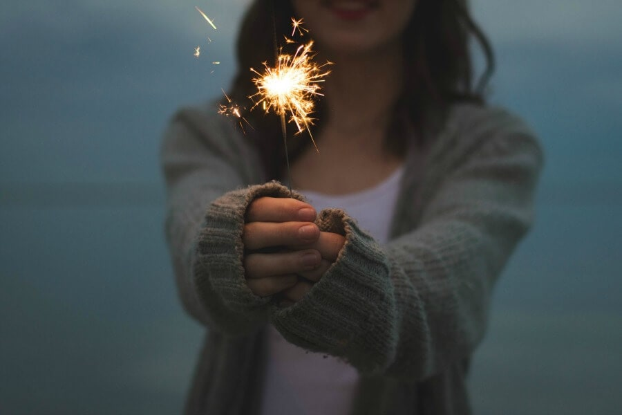 How to be Happy Light a Sparkler