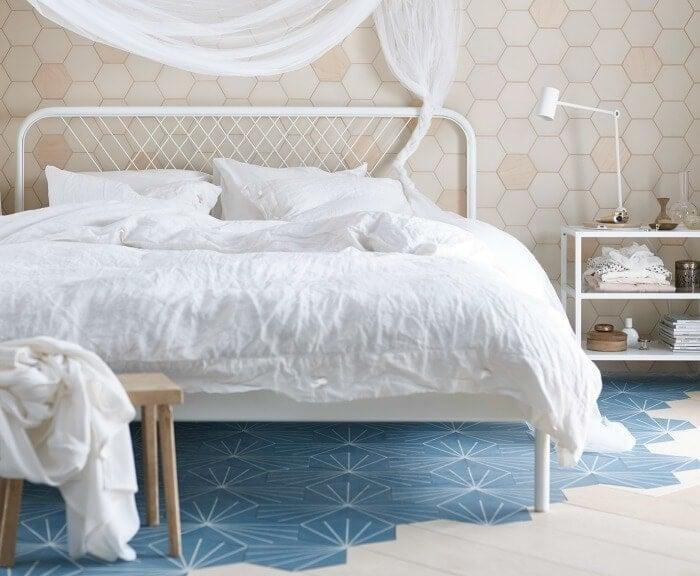 IKEA Linblomma quilt cover set white bedding white bedroom ideas