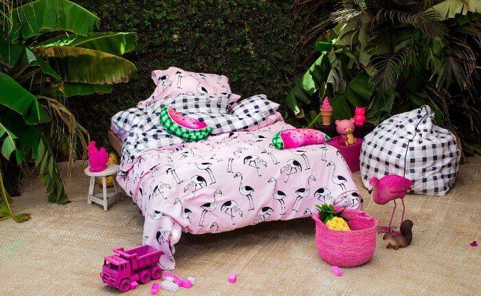 Sack Me Paradiso Kids Bedding Flamingo Bedspread