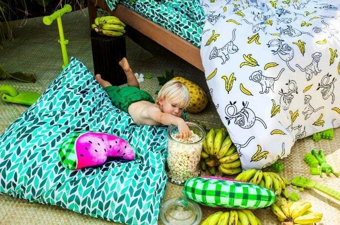 Sack Me Paradiso Kids Bedding Monkey and Banana Bedspread
