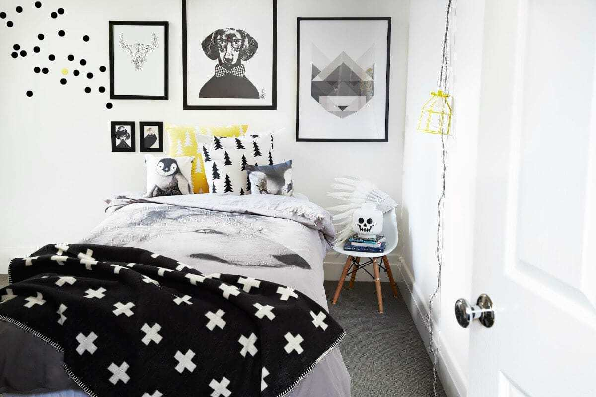 Teen Rooms Tween boys bedroom from Norsu Black and White Boys Room