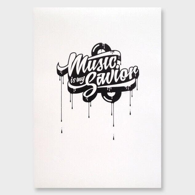 iThink Music is my Saviour Art for Kids The Life Creative