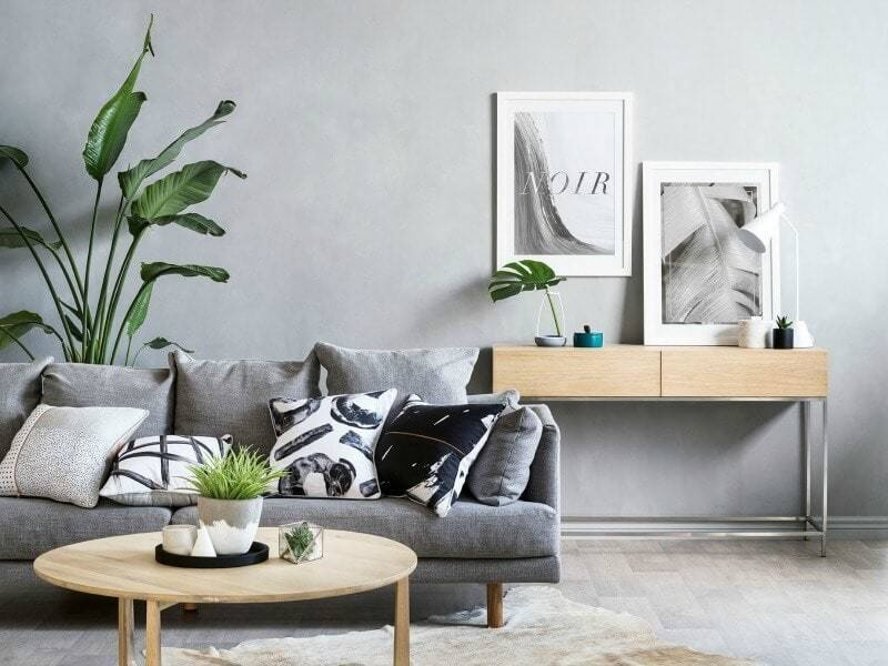 Art Club Concept Elysian Collection Grey Sofa Grey Living Room