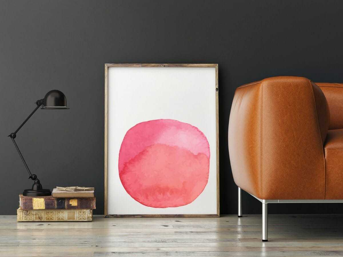 Atelier Lane Pink Painterly Wall Art the life creative