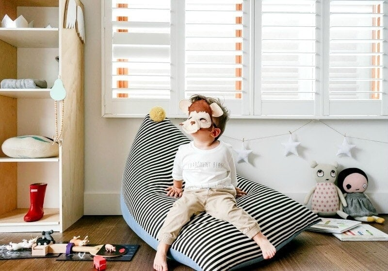 Baud and Co Kids striped beanbag the life creative