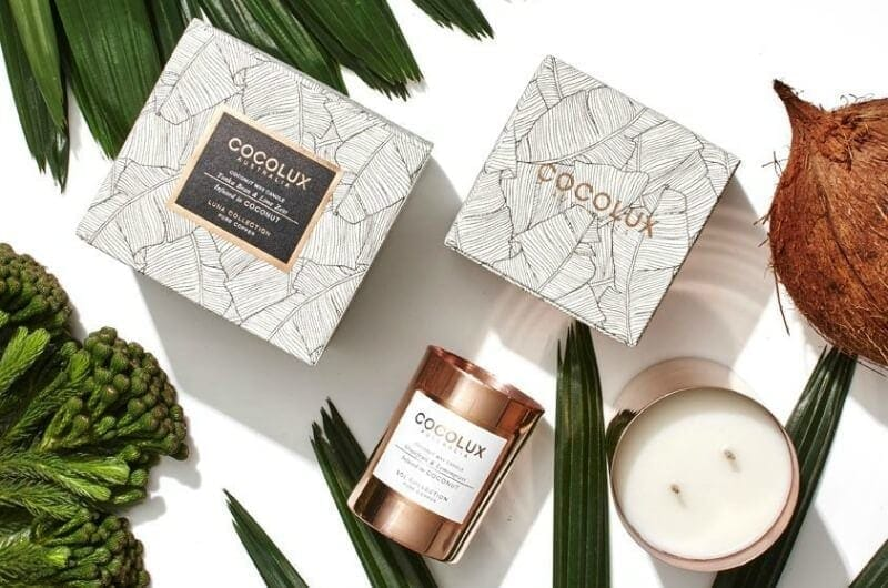 Cocolux luna candle in coconut copper candle the life creative