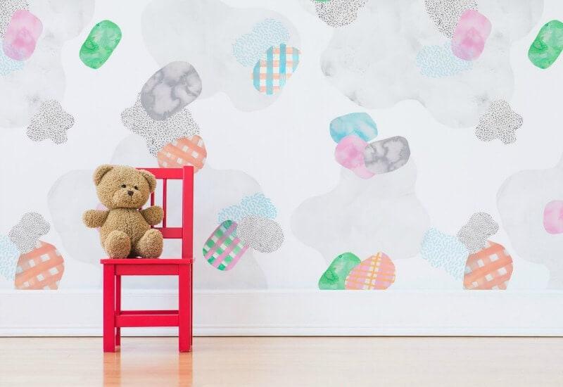 Digital wallpaper design by Alice Rooney kids room wallpaper from RMIT