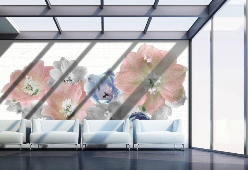 Digital wallpaper design by Qing Lin RMIT flower wallpaper