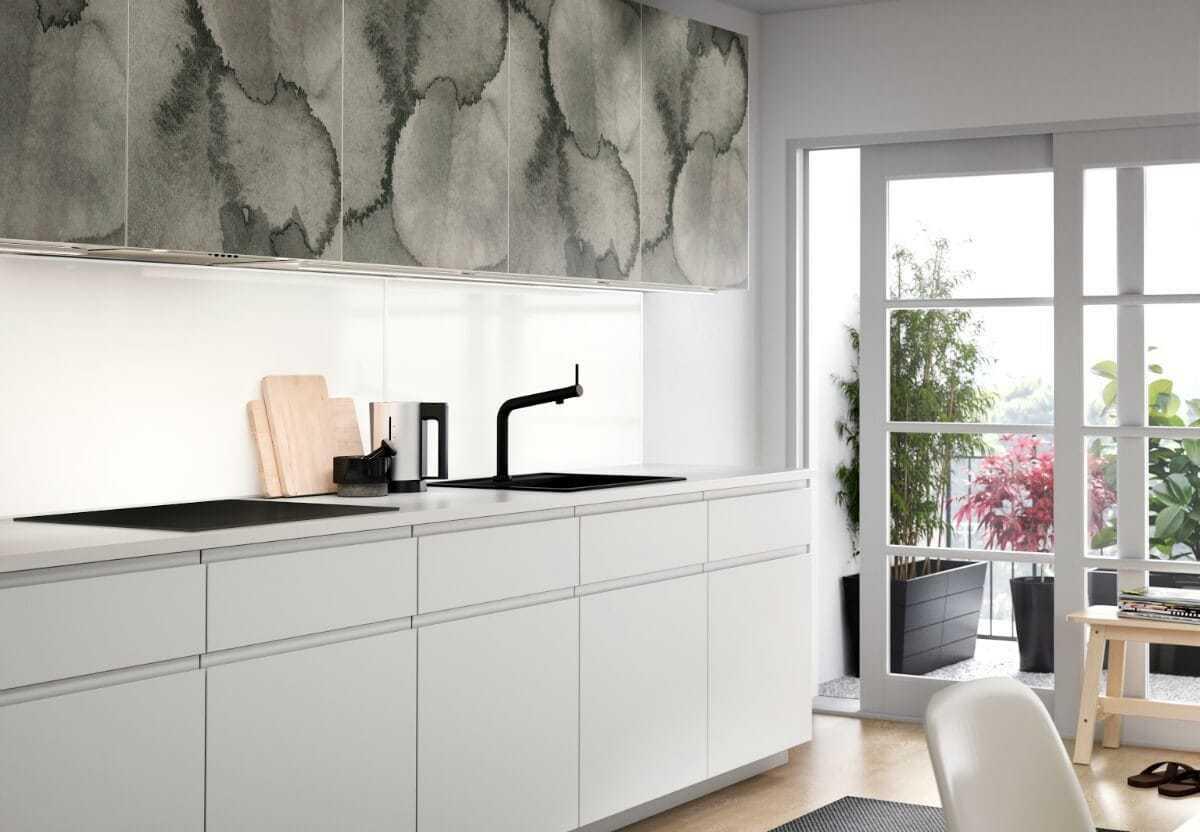 KALVIA Range IKEA green watercolour kitchen cabinetry design