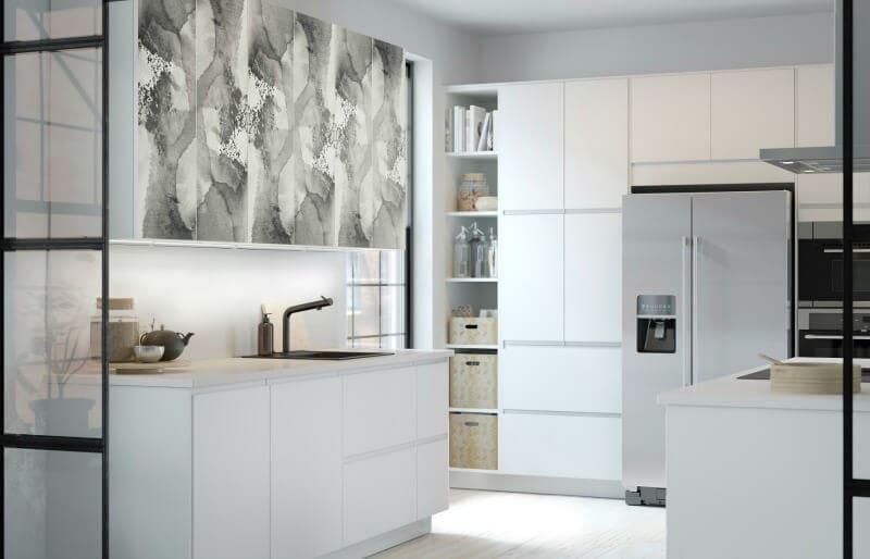 KALVIA Range IKEA watercolour kitchen cupboard pattern