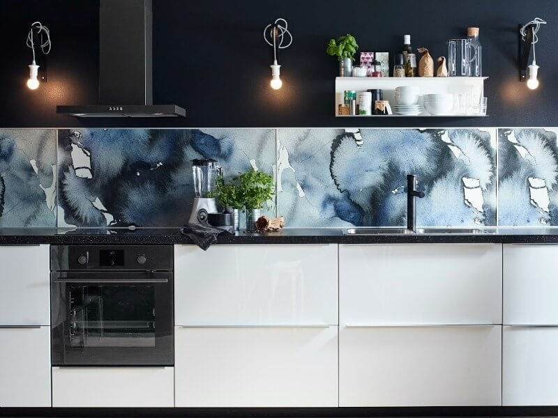 KALVIA Range IKEA watercolour splashback pattern