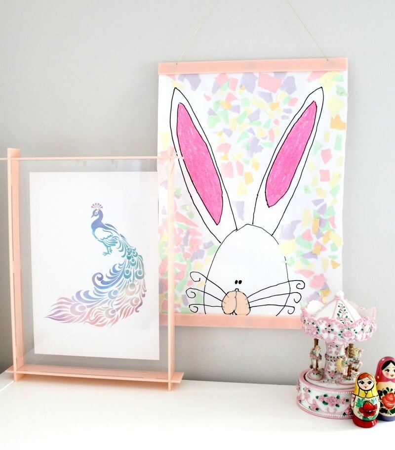 Lecky studio acrylic box frames and picture hangers for kids art on the life creative