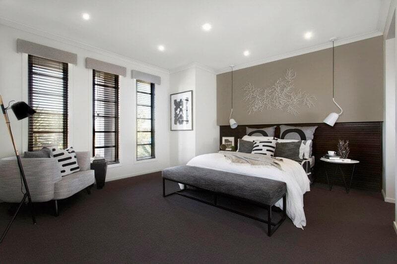 Metricon Urban Organic Lookbook Theme Master Bedroom Feature Art