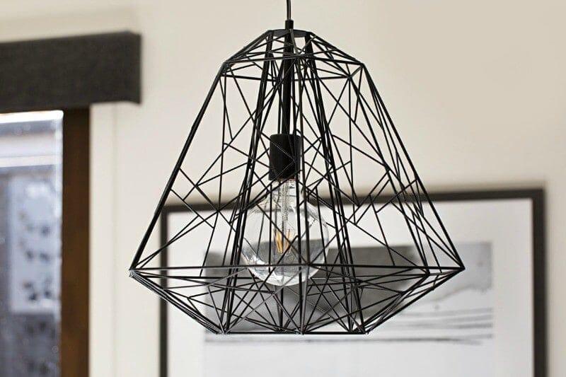 Metricon Urban Organic Lookbook Theme industrial metal pendant light in black