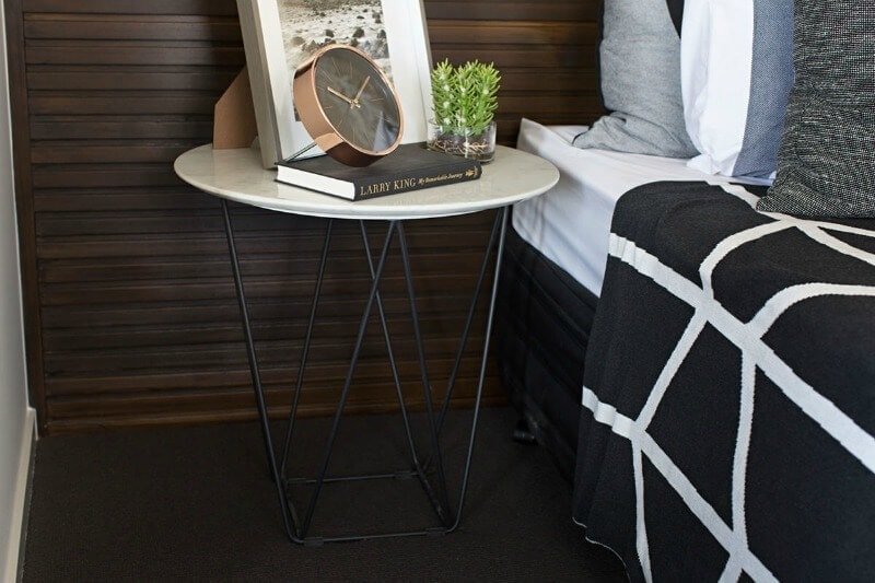 Metricon Urban Organic Lookbook theme Marble Bedside Table