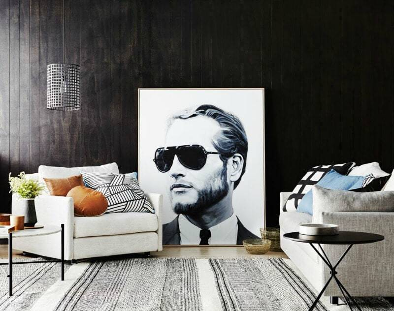 Nathan and Jac Aston interiors range man face print