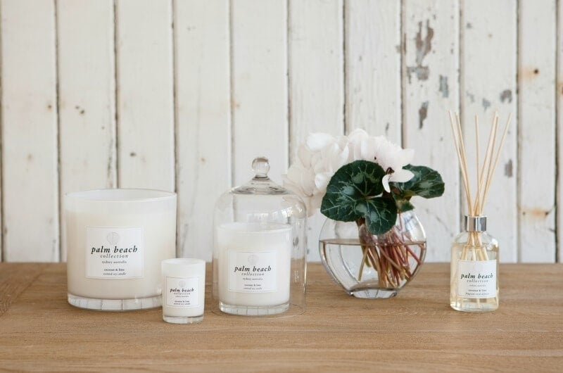 Palm Beach Collection candles and diffusers on the life creative