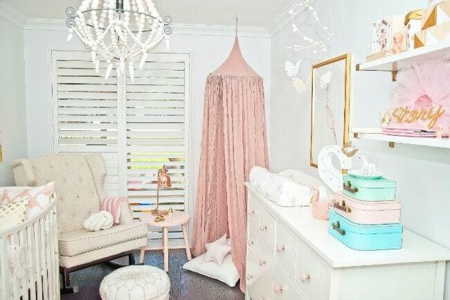 Pink Baby canopy in nursery nest design studio