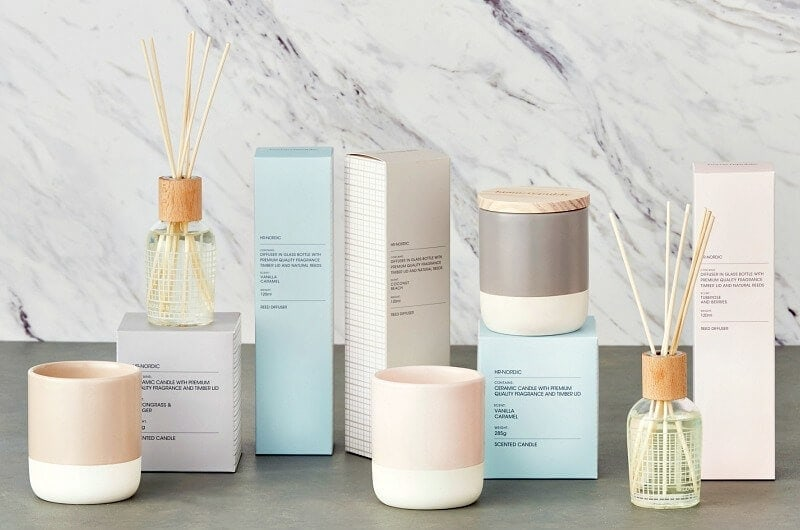 adairs nordic candle and diffusers on the life creative