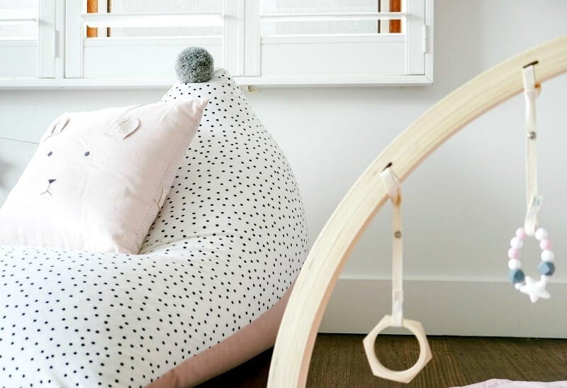 Pleasing Baud And Co Kids Beanbags With Pom Pom Top Inzonedesignstudio Interior Chair Design Inzonedesignstudiocom