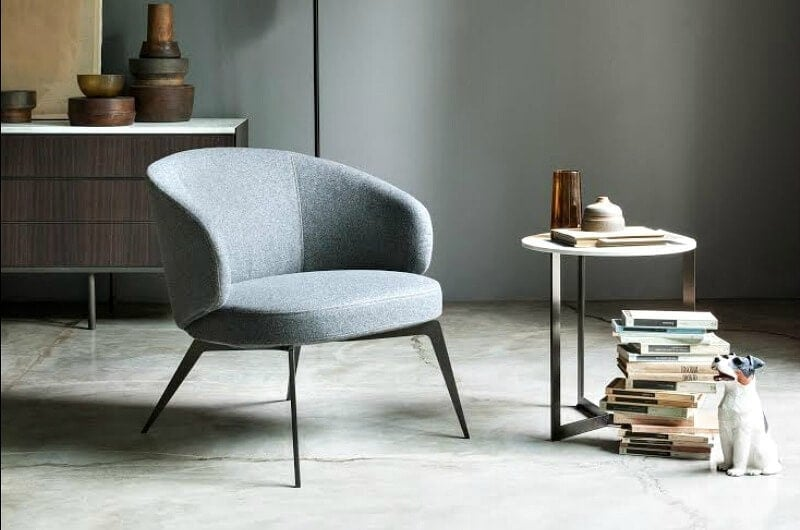 bice grey armchair from rogerseller occasional chairs in grey