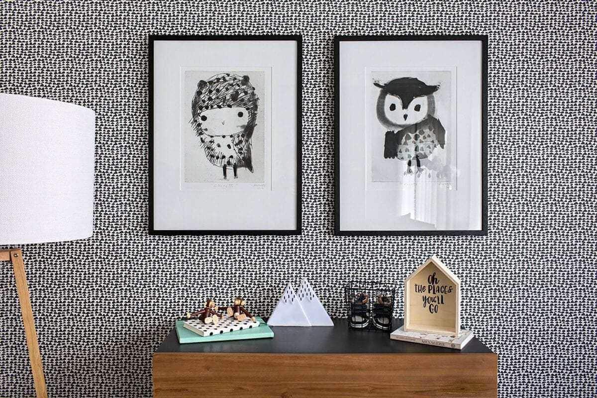 black and white kids room brown nursery furniture metricon