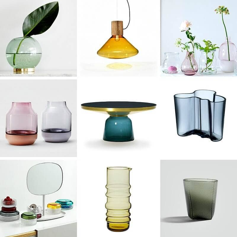 coloured glass decor coloured glass homewares trend the life creative