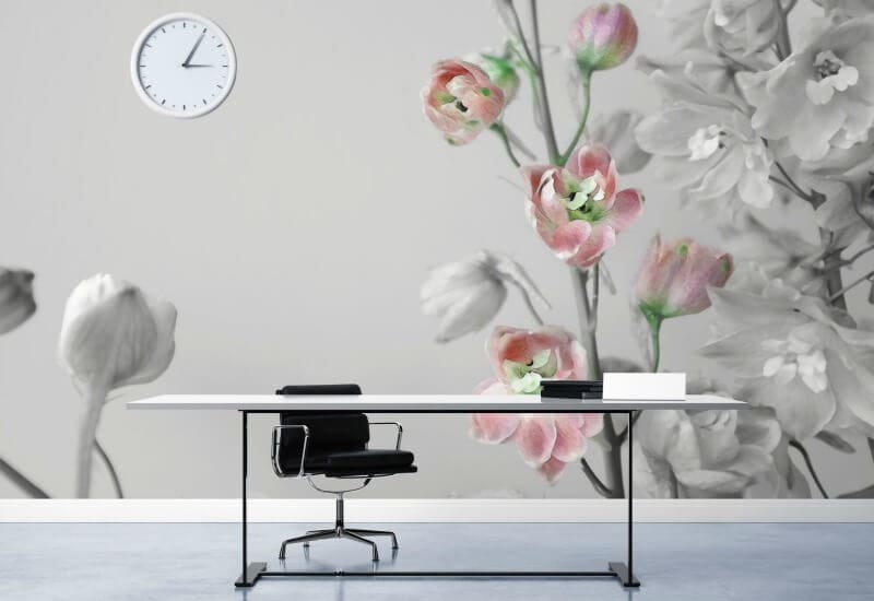 digital wallpaper design floral wallpaper by Qing Lin rmit textile designer