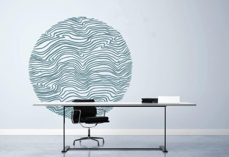 digital wallpaper design round wall decal by maddy north rmit