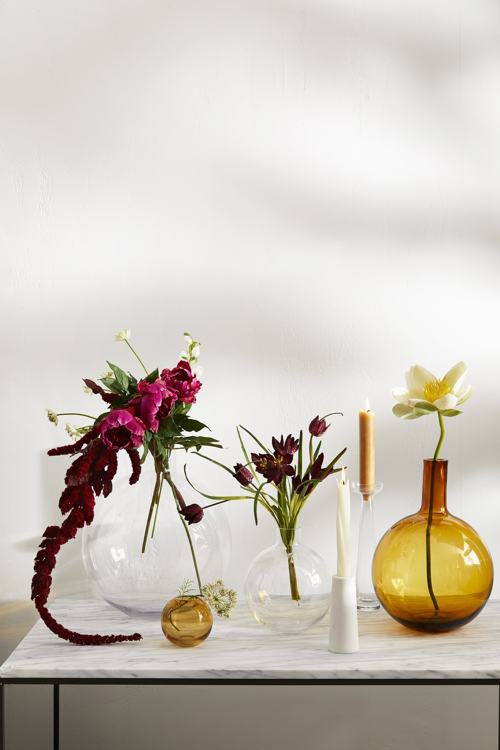 foundation vases from west elm coloured glass vase round with flowers