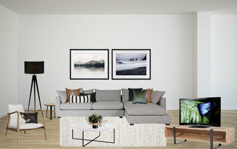grey sofa living room with marble coffee table the life creative