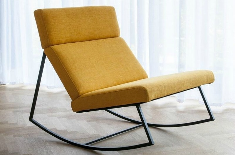gus gt rocking chair in mustard yellow from globe west
