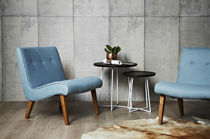 kennedy occasional chair in blue from cranmore home